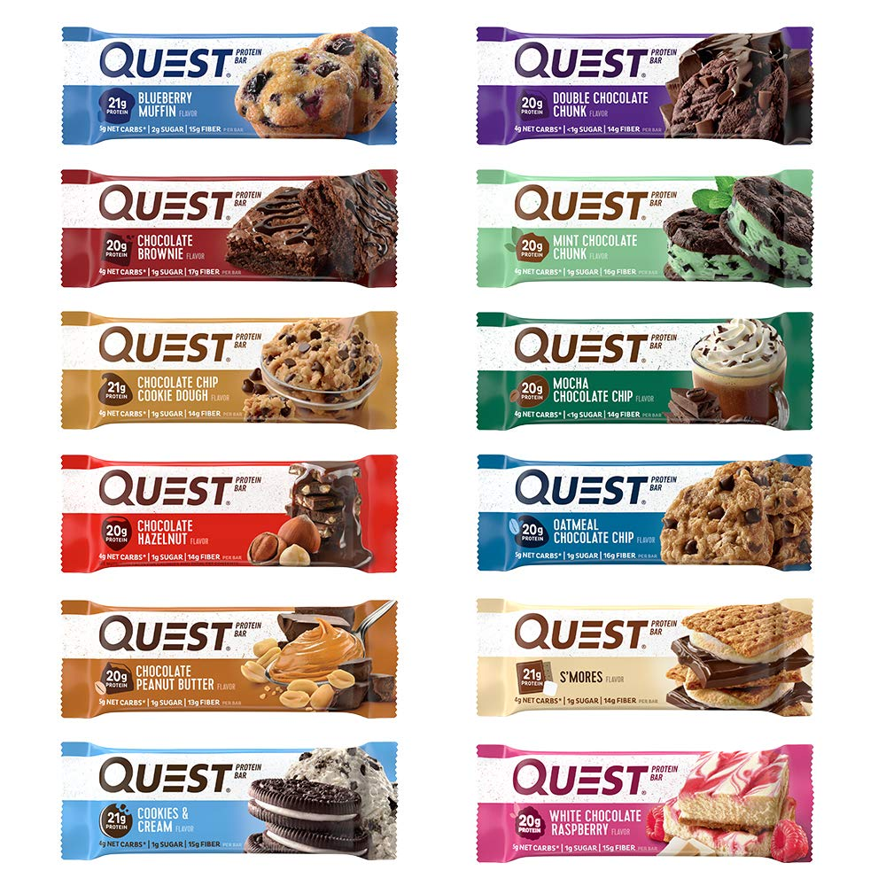 Quest Nutrition Ultimate Variety Pack, High Protein, Low Carb, Gluten Free, Soy Free, Keto Friendly, 12Count