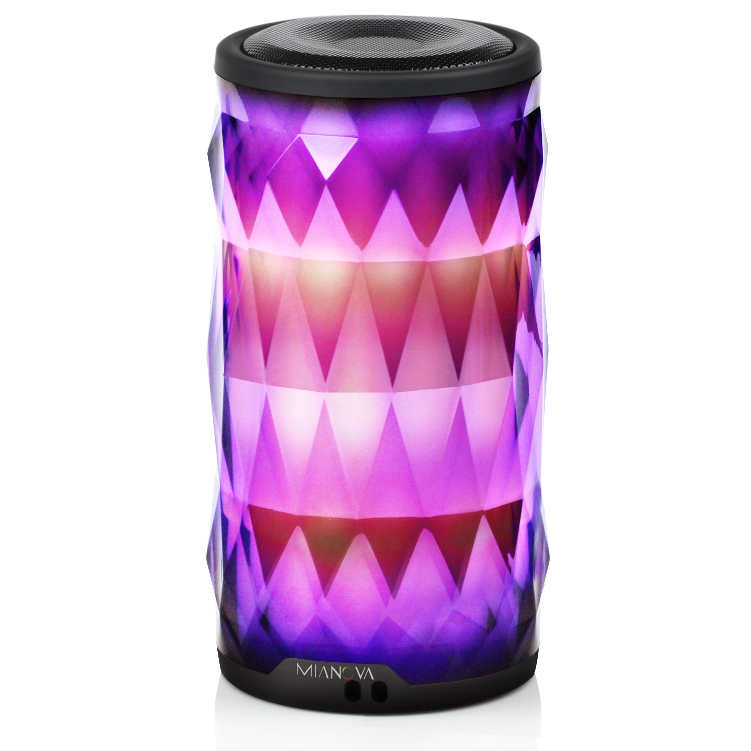 LED Bluetooth Speaker,Night Light Changing Wireless Speaker,MIANOVA Portable Wireless Bluetooth Speaker 6 Color LED Themes,Handsfree/Phone/ PC/MicroSD/ USB Disk/AUX-in/TWS Supported