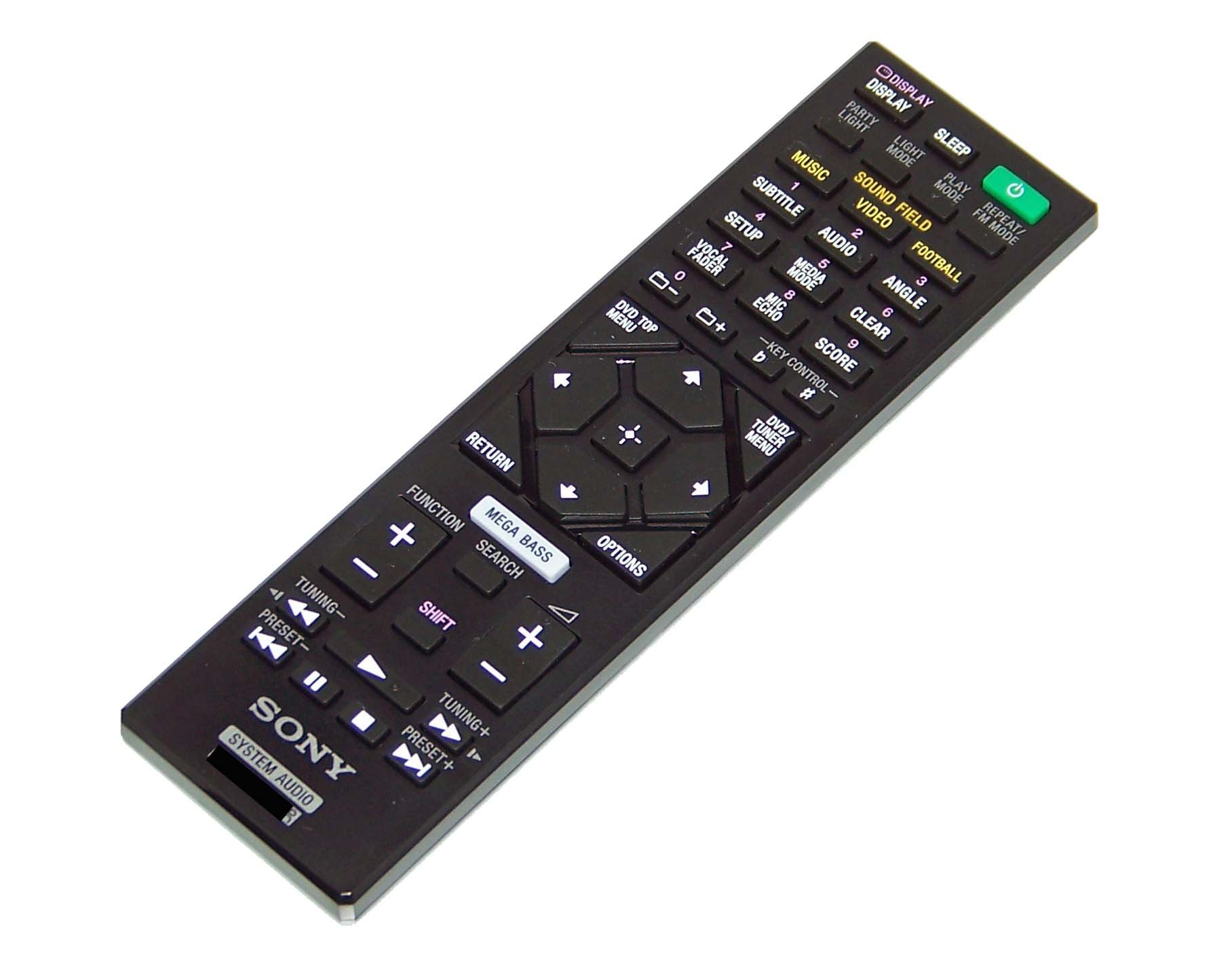 OEM Sony Remote Control Originally Shipped With: HCDSHAKEX10, HCD-SHAKEX10, HCD SHAKEX10