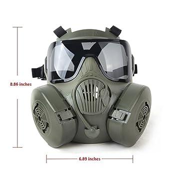 Generic táctica Wargame Paintball cara completa cráneo máscara de gas M50, color Army Green,