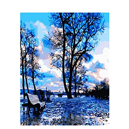 Amazon Com Simdoc Tree Diy Digital Oil Painting Paint By Number