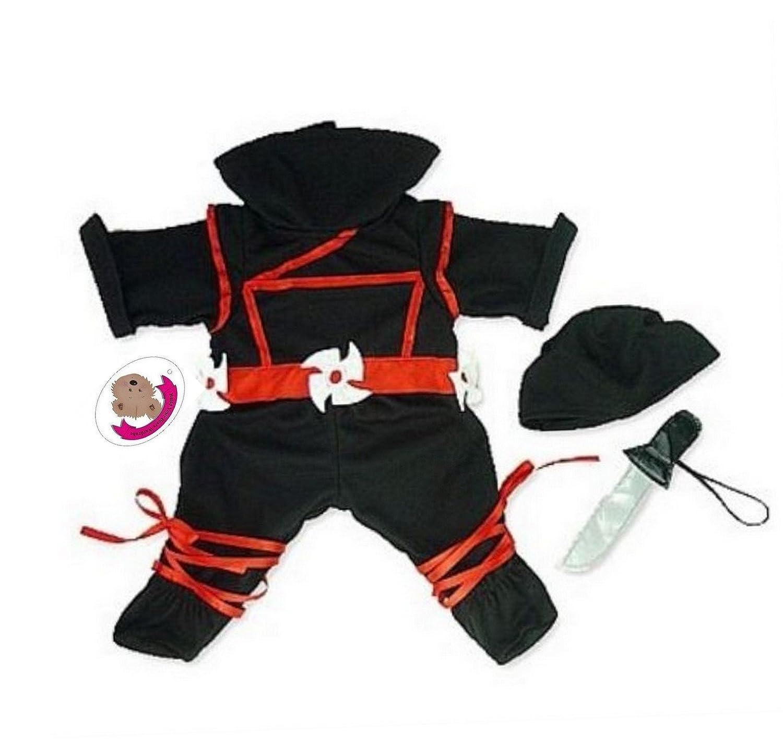 Build your Bears Wardrobe Disfraz de Ninja para Oso de ...