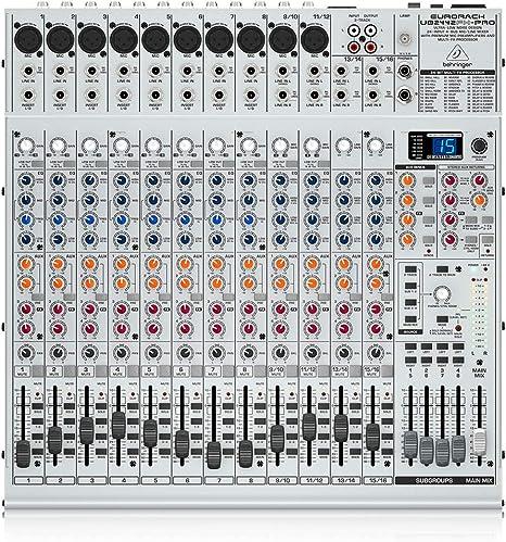Behringer UB2442FX-PRO-EU - Mesa de mezclas, 24 entradas: Amazon ...