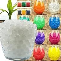 10g ~ 1kg Crystal Soil Water Beads Jelly Ball For Vase Filler Plants Kids Toy Home Wedding Decoration (1kg, White)
