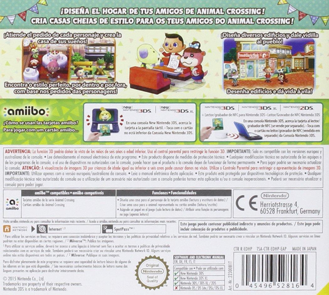 Animal Crossing: Happy Home Designer + 1 Tarjeta amiibo ...
