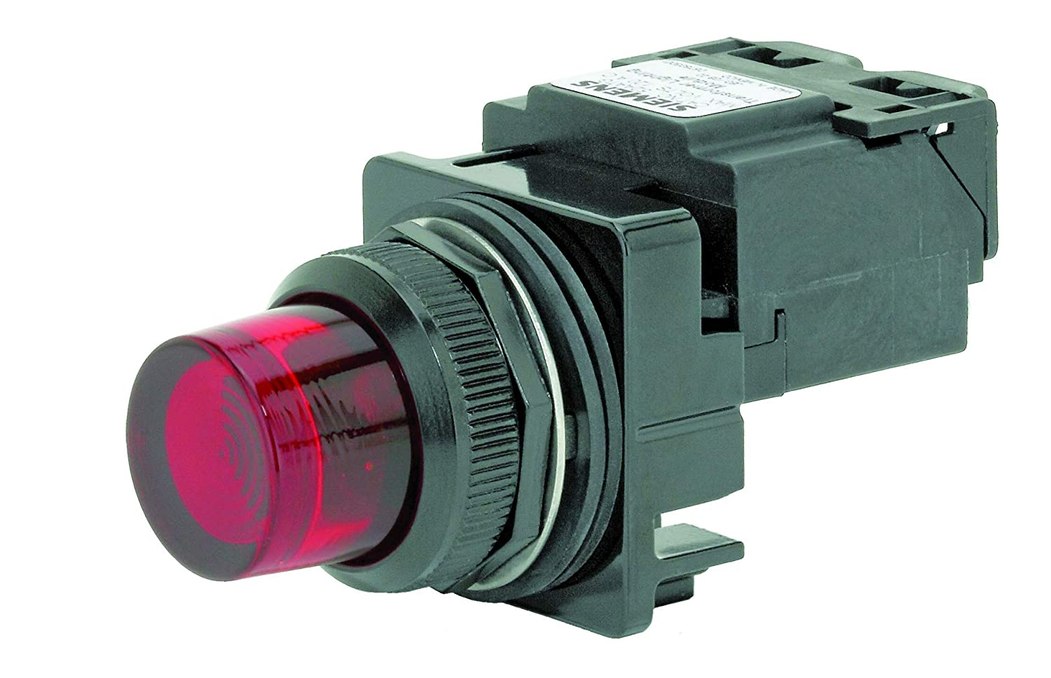 Glass Lens Water and Oil Tight 120VAC Voltage Red Siemens 52BL5M2 Heavy Duty Pilot Indicator Light