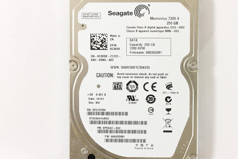 Amazon Dell C385R ST9250410ASG 25 SATA 250GB 7200 Seagate Laptop Hard Drive Latitude E4310 Computers Accessories