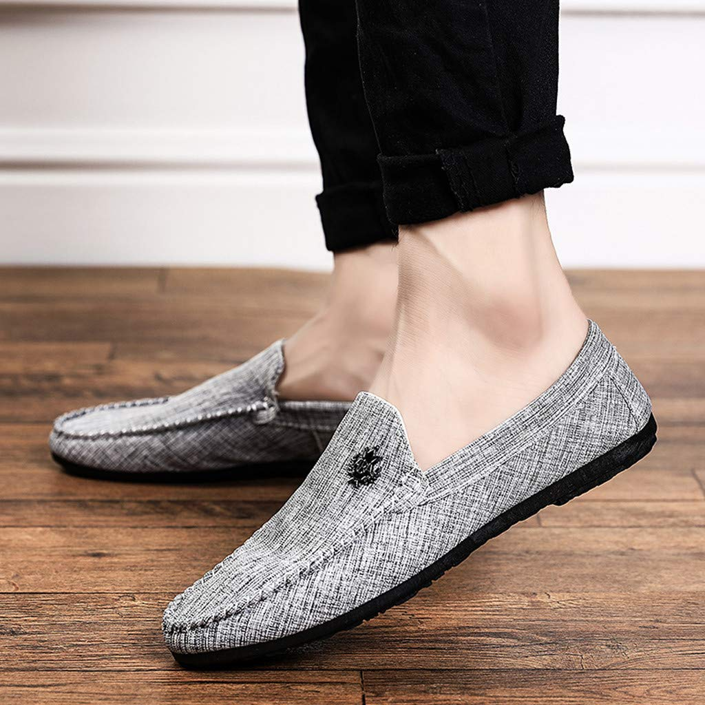 SCHOLIEBEN Zapatos Casuales Transpirables De Lona para Hombres Conjunto C/óModo De Zapato Perezosos Antideslizantes
