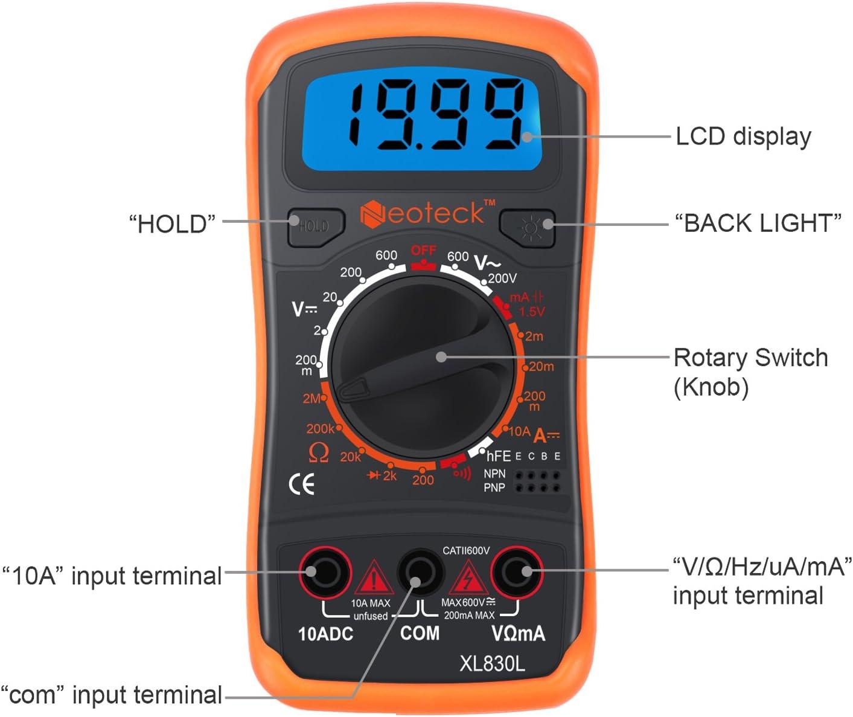 Neoteck Mini Digital Multimeter Digital Multimeter With Elektronik