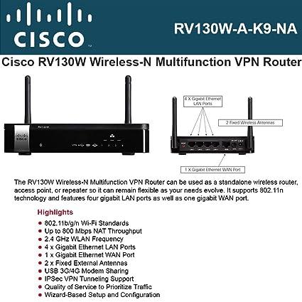 Rv130w Wireless N Vpn Router