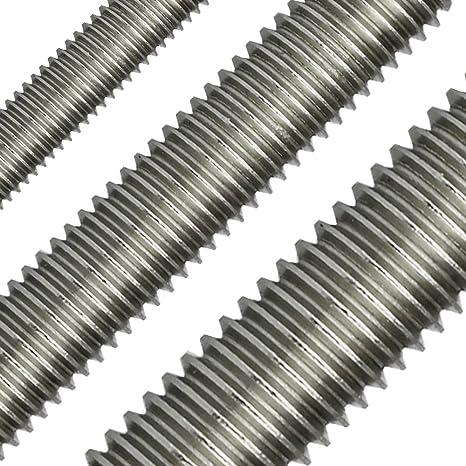 - DIN 976 // DIN 975 rostfreier Edelstahl A2 V2A Gewindestange 2 St/ück M22 x 1000 mm - SC976 SC-Normteile