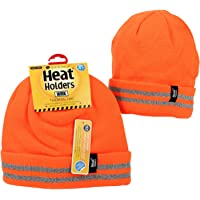 Heat Holders Men's Warm Winter WRK Thermal Beanie Hat with Reflective Stripes