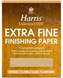 Harris Extra Fine Finishing Sandpaper Sheet 4 Pack