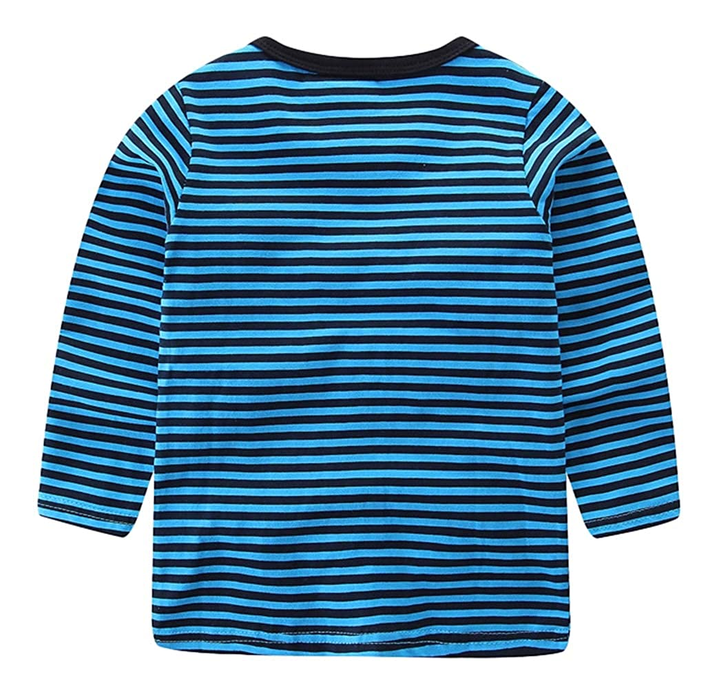 Liveinu Baby Shirt 1-6 Toddler Boys Girls Kid Fall Winter Clothes Long Sleeve Stripe Blouse T-Shirt