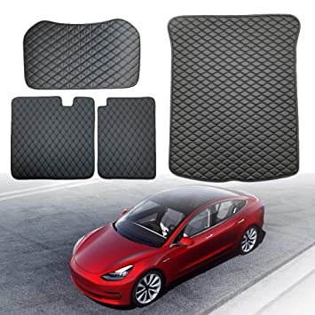 Seat Protective Pads for Model 3 Seat Back Cover Mat Topfit 2nd Row Seat Back Protector Liner