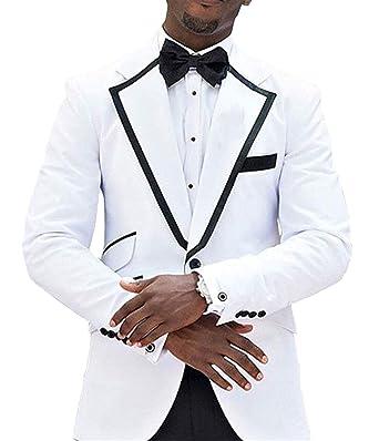 Amazon.com: pretygirl hombre traje 2 piezas formal esmoquin ...