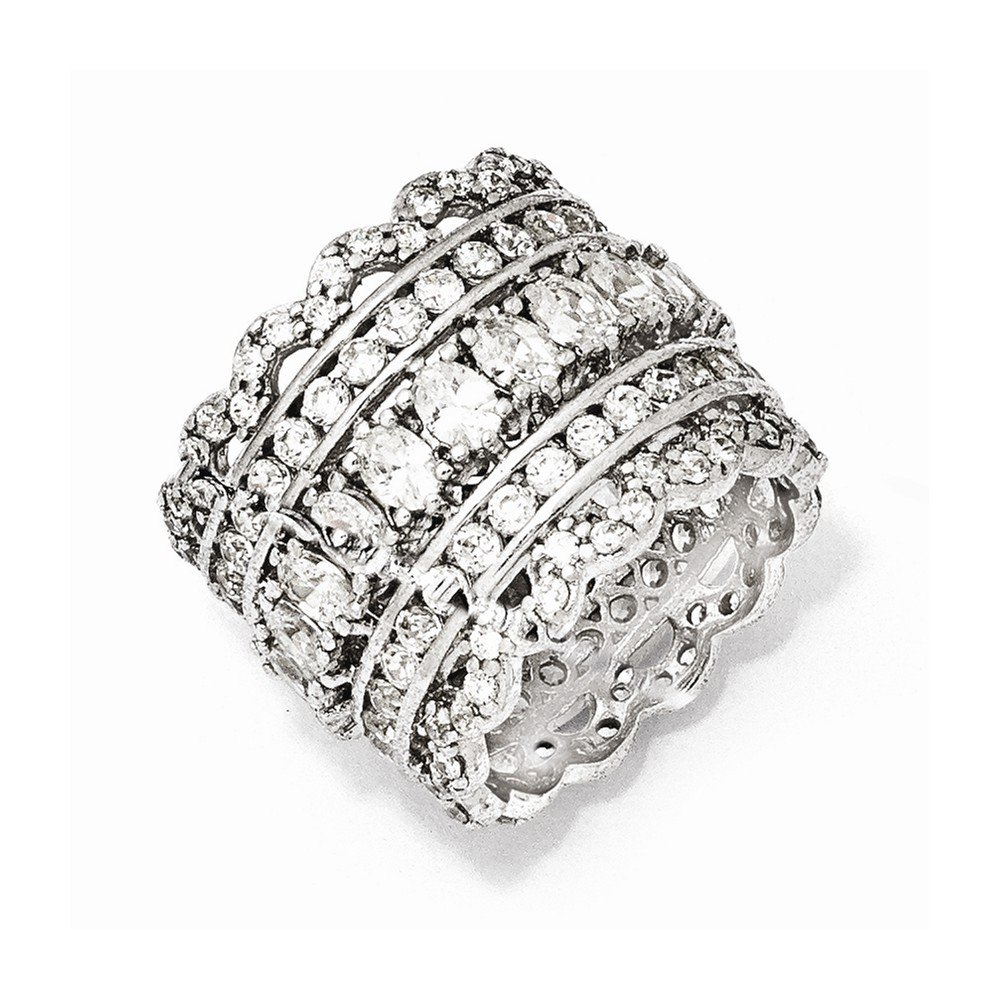 925 Sterling Silver Cubic Zirconia Cz Band Ring Size 6.00 Fine Jewelry Gifts For Women For Her