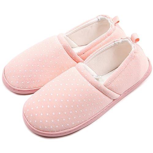 6dede8b4ecc8 ChicNChic Women Comfortable Cotton Dot Anti Slip Slippers Washable Soft  Sole Indoor House Shoes (7B