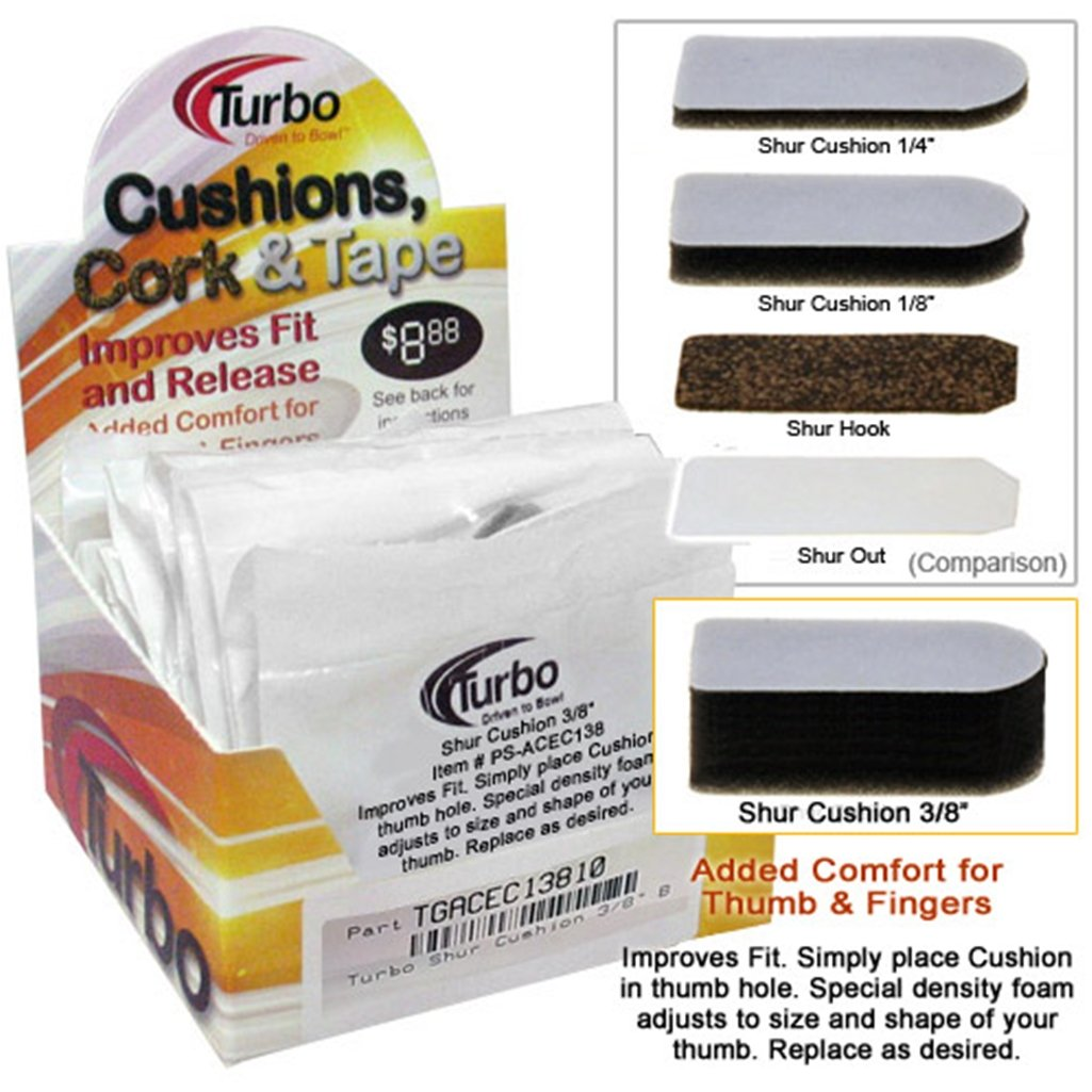 Bowlerstore Products Turbo Shur Cushion 3/8 Inch- 20 Count