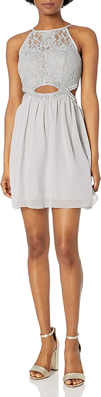 Amazon.com: Speechless Women's High Neck Party Dress with