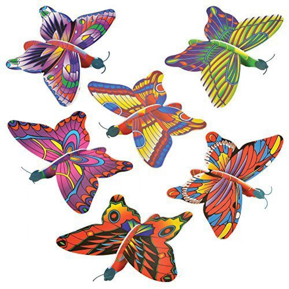 (48) Butterfly Foam Gliders Rhode Island Novelty