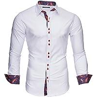 Kayhan Men´s Long Sleeve Casual Shirt Slim fit Easy Iron Modell -Royal Paisley