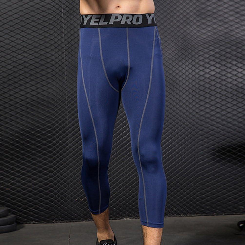 YiiJee Mens Running Leggings Pro Combat Core Compression Base Layer Tight Pants