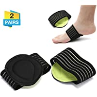 Charminer Cushioned Compression Arch Support,Fallen Arch Support Heel Spurs Plantar Fasciitis Foot pad&Orthotic Insoles&Socks Padded Comfort for Plantar Fasciitis,Flat Feet,Feet Pains,Men Women2Pairs