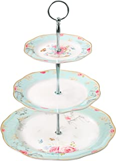 Jusalpha Light Blue 3-tier Ceramic Cake Stand- Cupcake Stand- Tea Party Pastry  sc 1 st  Amazon.com & Amazon.com | Jusalpha 3-tier Ceramic Cake Stand-Dessert Stand ...