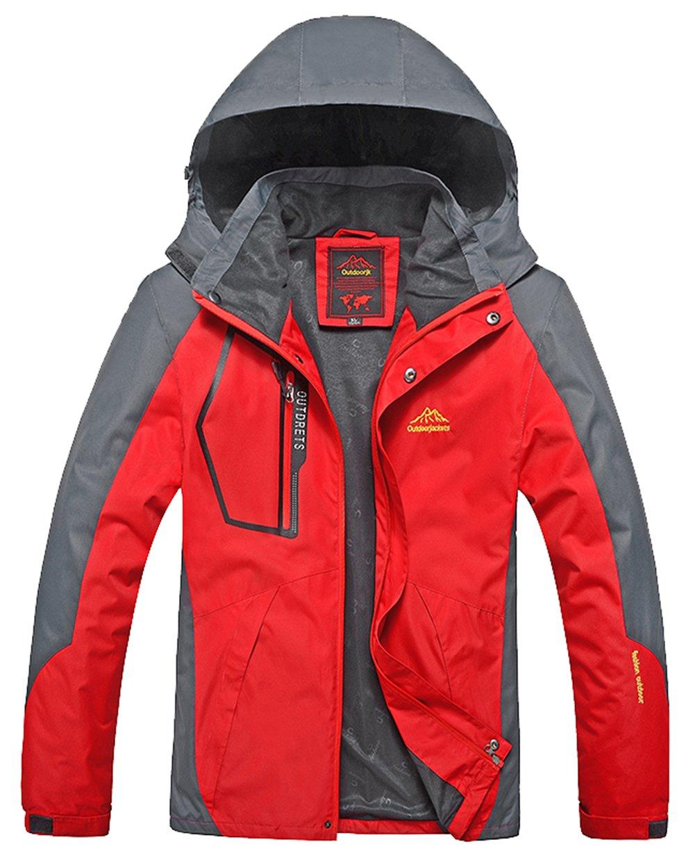 Lottaway Spring Fall Hooded Outdoor Hiking Climbing Rush Guard Pioneer Jacket Faddist Spark Malls-CA