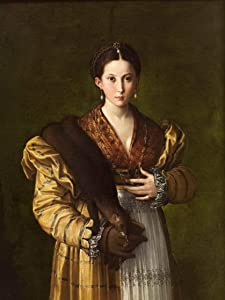 Berkin Arts Parmigianino Giclee Print On Canvas-Famous Paintings Fine Art Poster-Reproduction Wall Decor(Portrait of A Young Woman Called 'Antea') Large Size 39 x 52inches