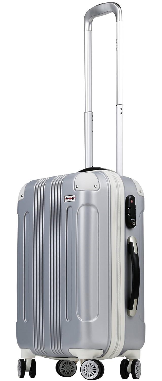 (ムーク)M∞K 超軽量スーツケース 【一年保証】 ダブルキャスター TSAロック付き B01ICU19UY Lサイズ(7泊~目安/約95L)|シルバー シルバー Lサイズ(7泊~目安/約95L)
