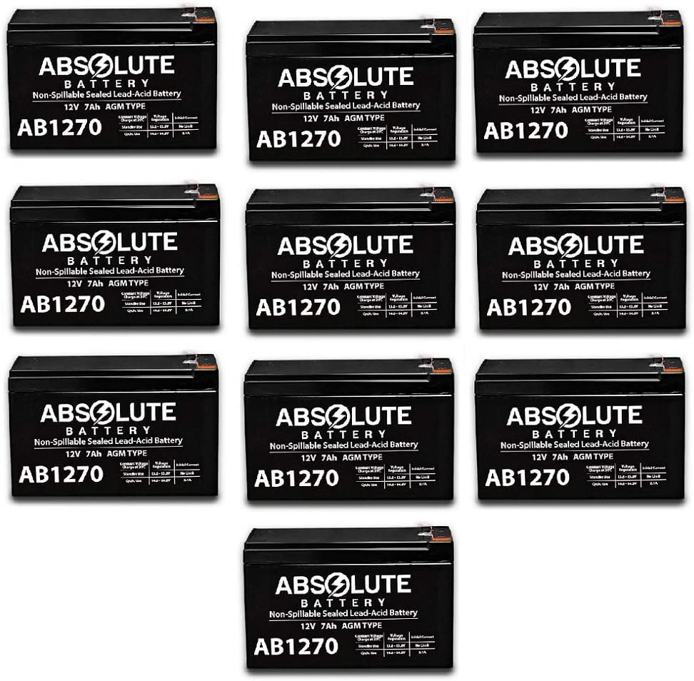 10 Pack AB1270 12V 7AH Battery Replaces APC Smart UPS Rack Mount XR SU24R2XLBP