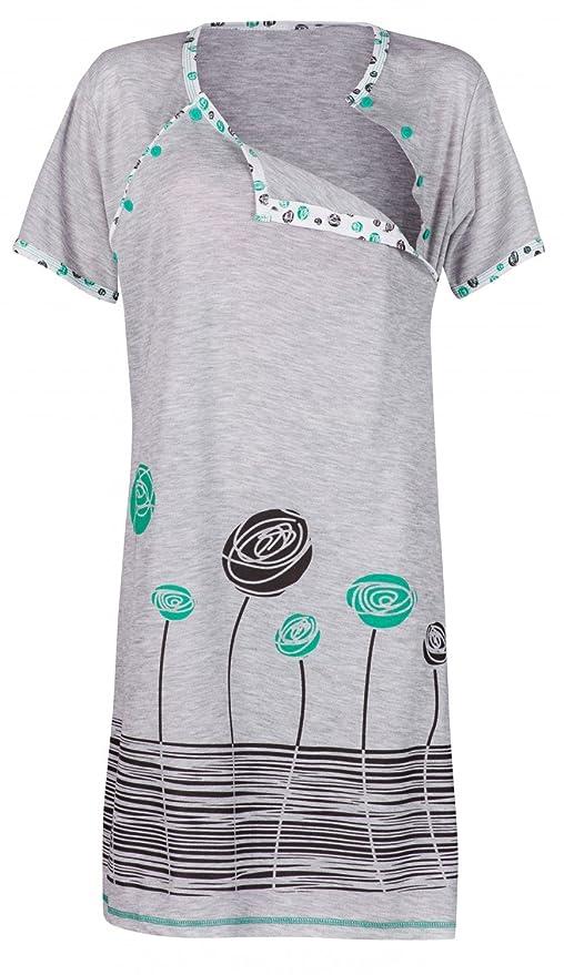 15 opinioni per Happy Mama. Donna Prémaman camicia da notte gravidanza allattamento fiori. 135p