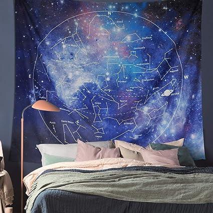 Amazon Com Kmnovo Constellation Tapestry Wall Haning Zodiac