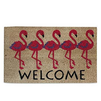 A1 Home Collections Flamingo Welcome Pvc Tufted Designer Doormat