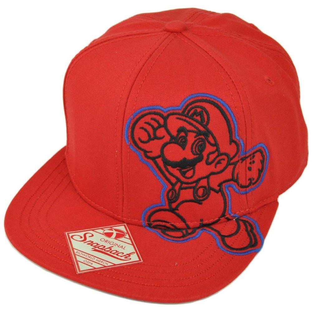Amazon.com  Super Mario Nintendo Video Game Snapback Flat Bill Old School  Character Hat Cap  Clothing fad439337851