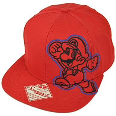 Image Unavailable. Image not available for. Color  Super Mario Nintendo  Video Game Snapback ... bdb9ab149632
