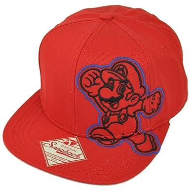 Amazon.com  Super Mario Nintendo Video Game Snapback Flat Bill Old ... b6e68a45f6a
