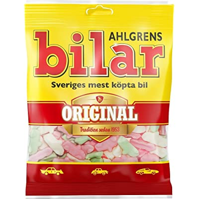 18 Bags x 125g of Ahlgrens Bilar Original - Swedish - Chewy Marshmallow Cars - Candies - Sweets - New Design! : Grocery & Gourmet Food