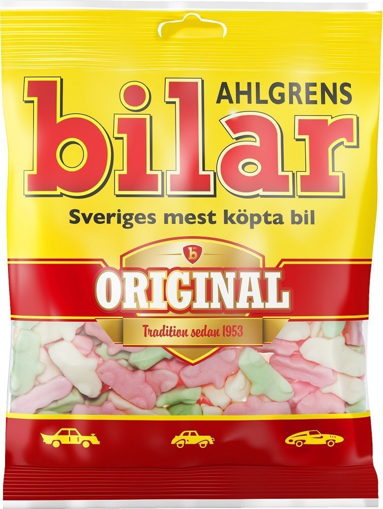 One Bag X 125g Of Ahlgrens Bilar Original Swedish