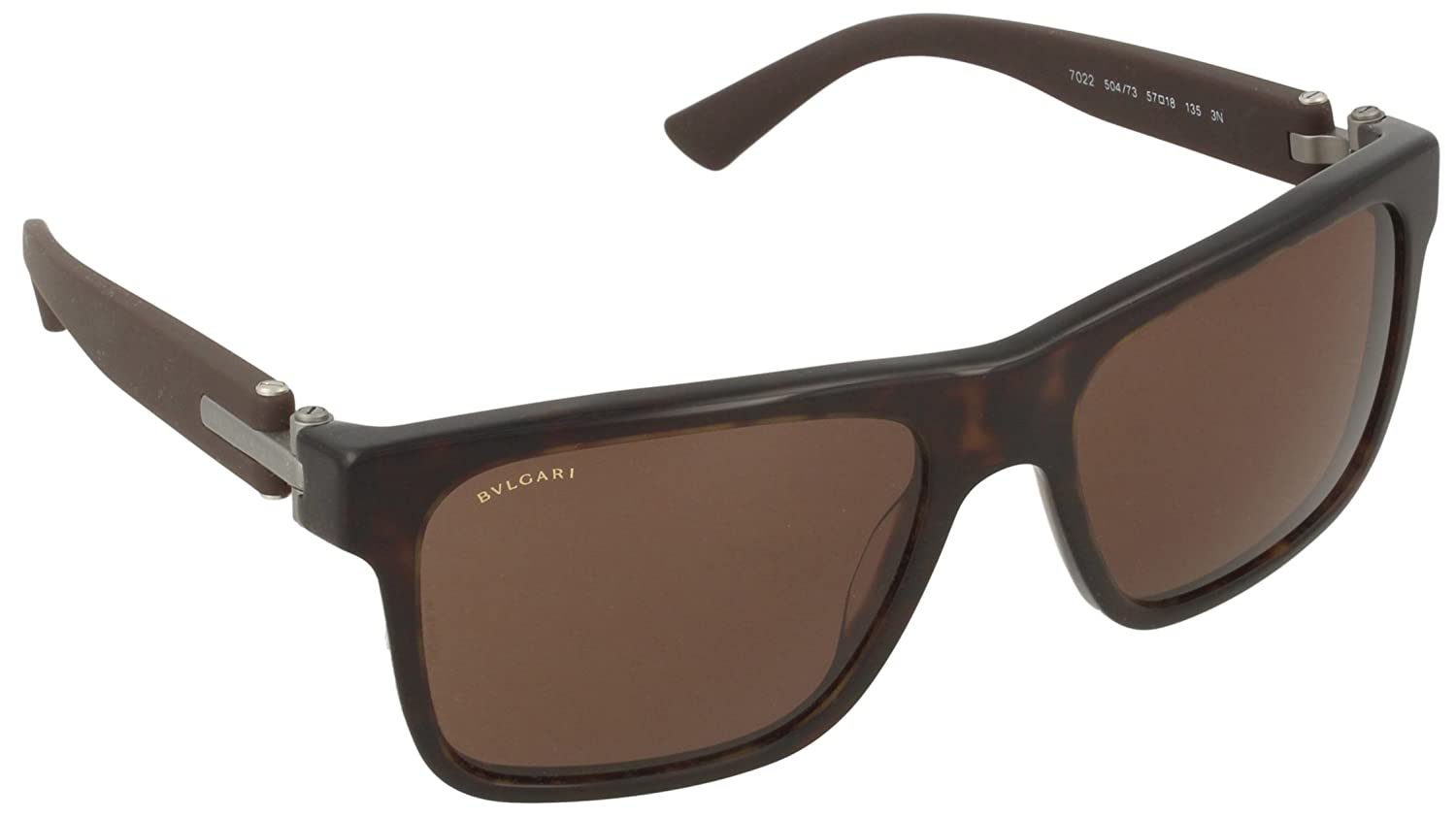 Bvlgari Mens BV7022 Sunglasses Dark Havana Brown 57mm