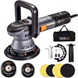 Buffer Polisher, TACKLIFE 6 Inch/5 Inch Orbital Car Polisher, 6-Level Variable Speed, with 4 Foam Pads, Tool Bag for Car…
