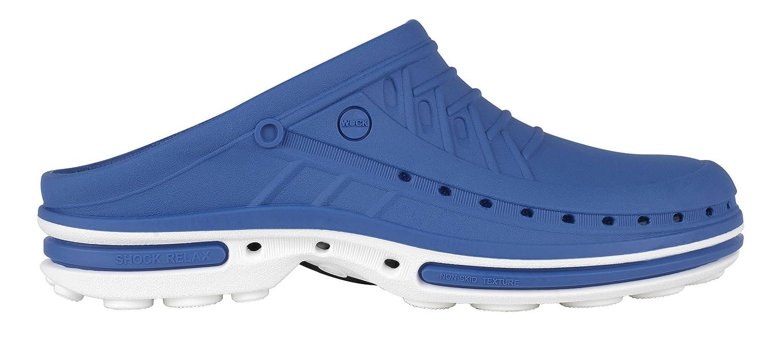 Clog 13962 Antidérapante - Chaussure professionnelle WOCK - Stérilisable ; Antistatique ; ; Antidérapante ; Absorption des chocs Blanc/Bleu Roi 322fae6 - latesttechnology.space