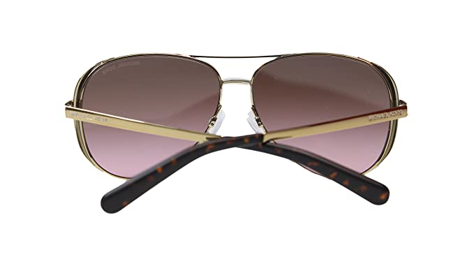 066f69fb3e9 Amazon.com  Michael Kors Chealsea Womens Sunglasses M5004 101414 Gold Brown Aviator  59mm  Clothing