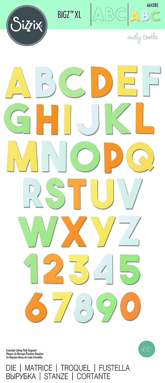 Talla /única multicolor Sizzix Troquel Bigz XL 664385 Alfabeto Grueso by Emily Tootle
