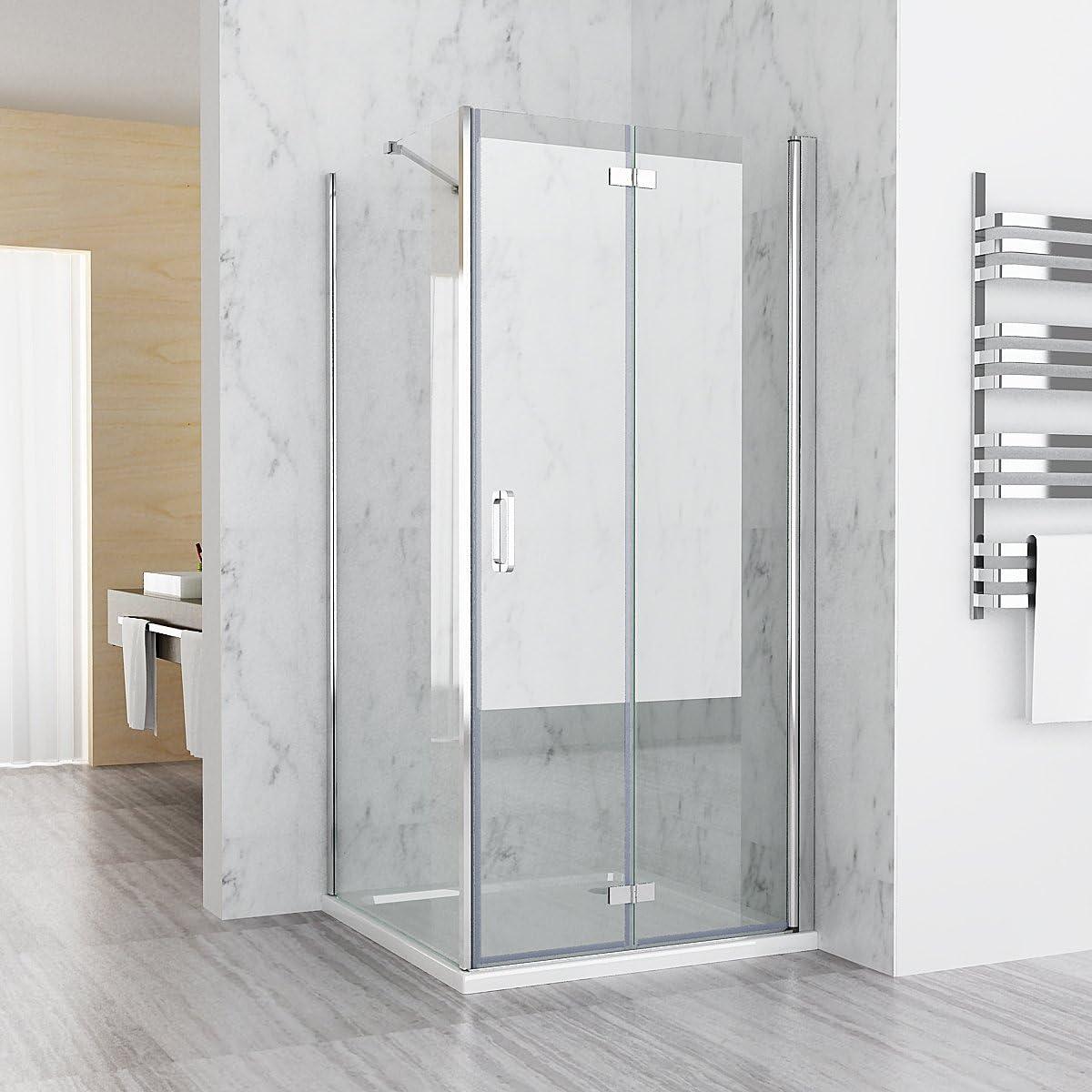 Cabina de ducha 75 – 120 cm puerta plegable 70 – 90 cm de la pared ...