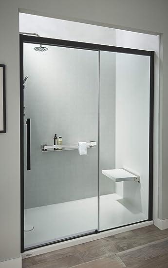 Jacuzzi SD48817 Puerta de ducha semi deslizante de 198 cm de alto ...