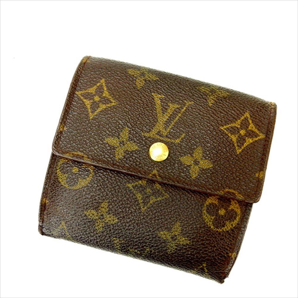 ルイヴィトン Louis Vuitton Wホック財布 三つ折り ユニセックス ポルトモネビエカルトクレディ M61652 モノグラム 中古 C1388   B019RKQ2AU