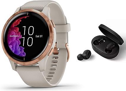 Garmin Venu Gps Fitness Smartwatch Musicplayer Herzfrequenzmessung Sand Beige Inkl Bluetooth Headset Navigation